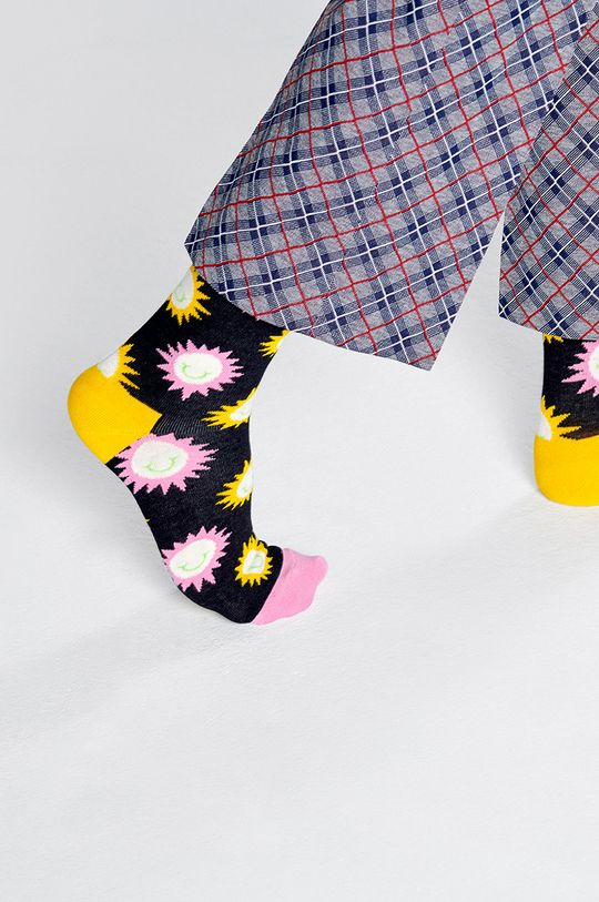 Happy Socks - Ponožky Sunny Smile Sock čierna