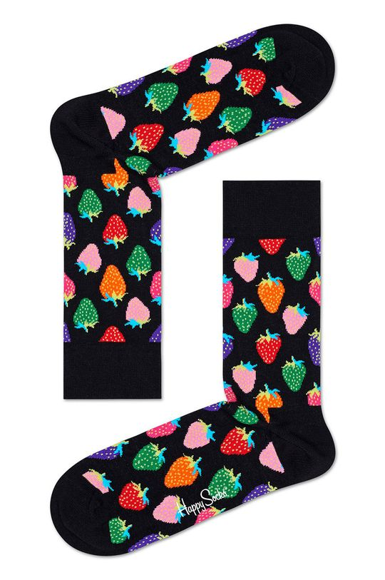 negru Happy Socks - Sosete Strawberry De bărbați