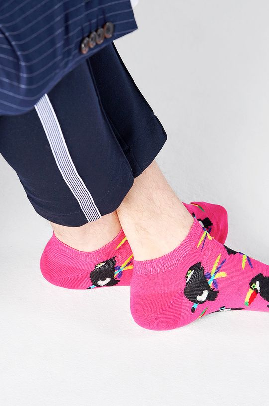 Happy Socks - Kotníkové ponožky Toucan růžová