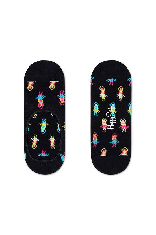 černá Happy Socks - Kotníkové ponožky Hula Pánský