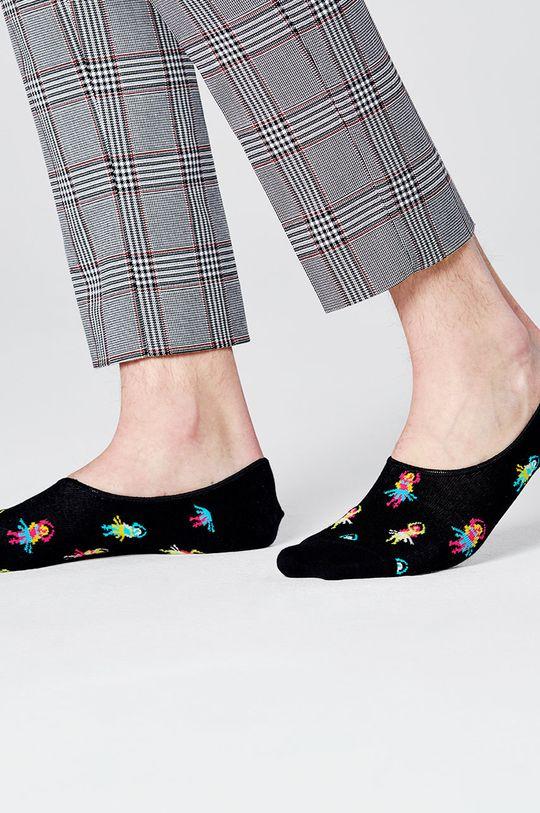 Happy Socks - Kotníkové ponožky Hula černá