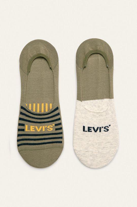 olivová Levi's - Kotníkové ponožky (2-pack) Pánský