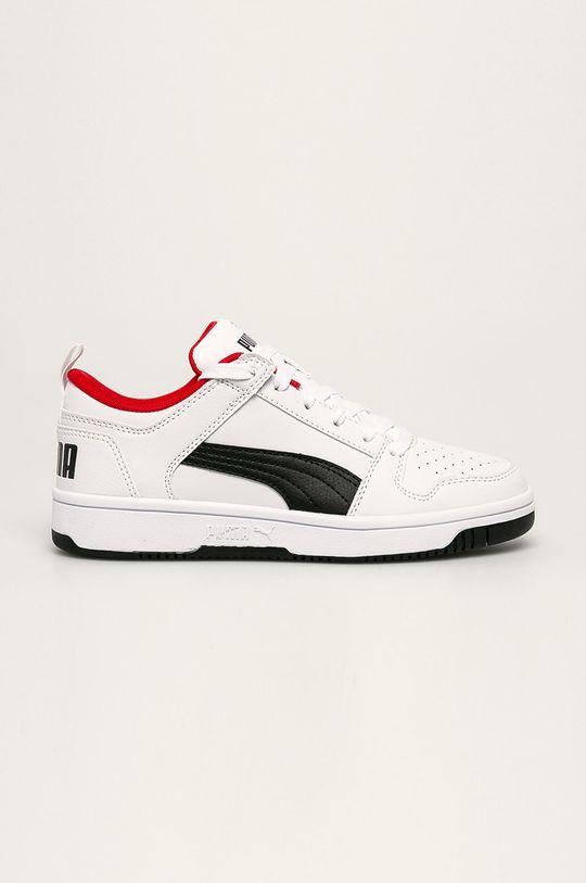 bílá Puma - Dětské boty Rebound Layup Lo SL J Chlapecký