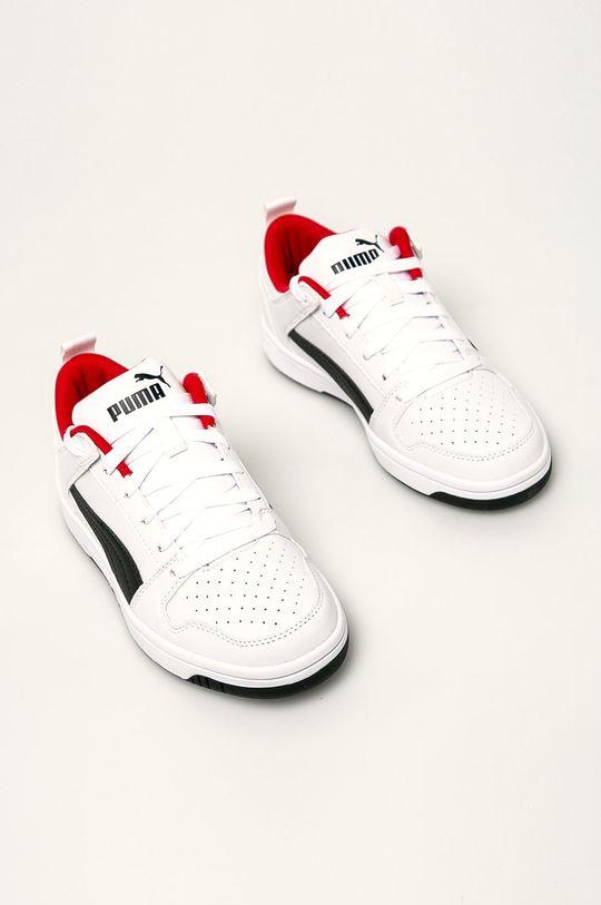 Puma - Dětské boty Rebound Layup Lo SL J bílá
