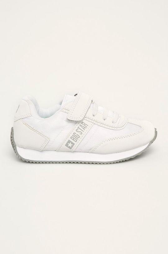 bílá Big Star - Kožené boty FF374132 Chlapecký