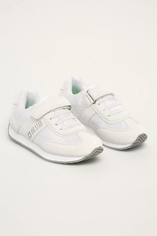 Big Star - Kožené boty FF374132 bílá