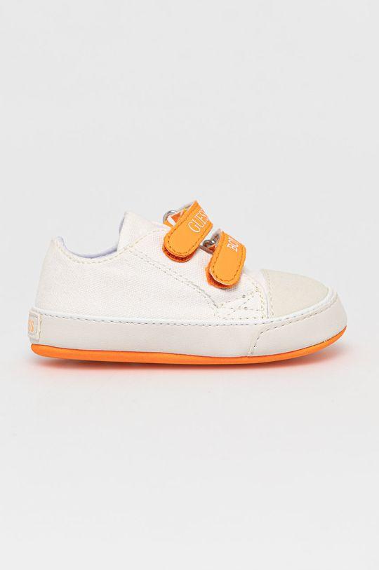 biela Guess Jeans - Detské topánky Chlapčenský