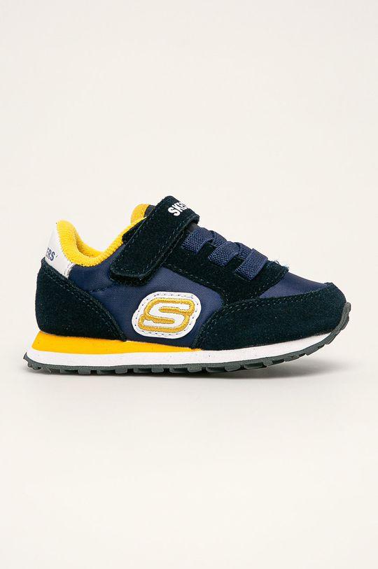 tmavomodrá Skechers - Detské topánky Chlapčenský