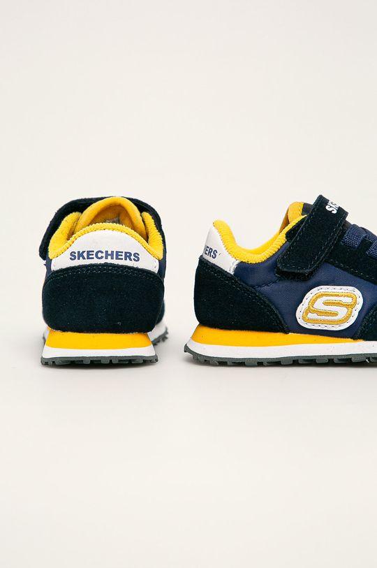 Skechers - Detské topánky  Zvršok: Textil, Prírodná koža Vnútro: Textil Podrážka: Syntetická látka
