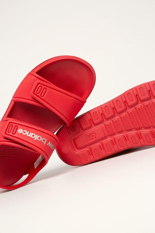 červená New Balance - Dětské sandály YOSPSDRD