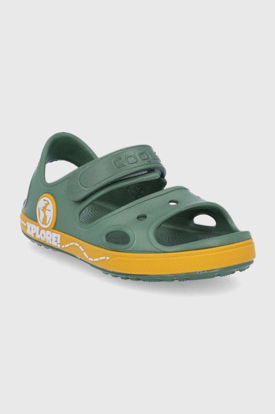 Coqui - Dětské sandály tlumená zelená