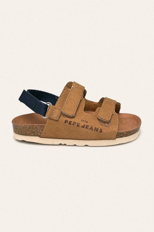 kávová Pepe Jeans - Detské sandále Bio Velcro Chlapčenský