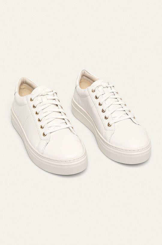 Vagabond - Kožené boty bílá