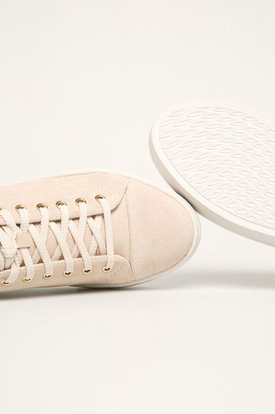 beżowy Vagabond - Buty skórzane Zoe Platform