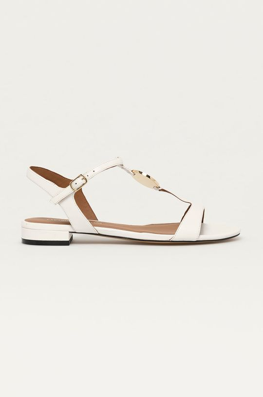 bílá Emporio Armani - Kožené sandály Dámský