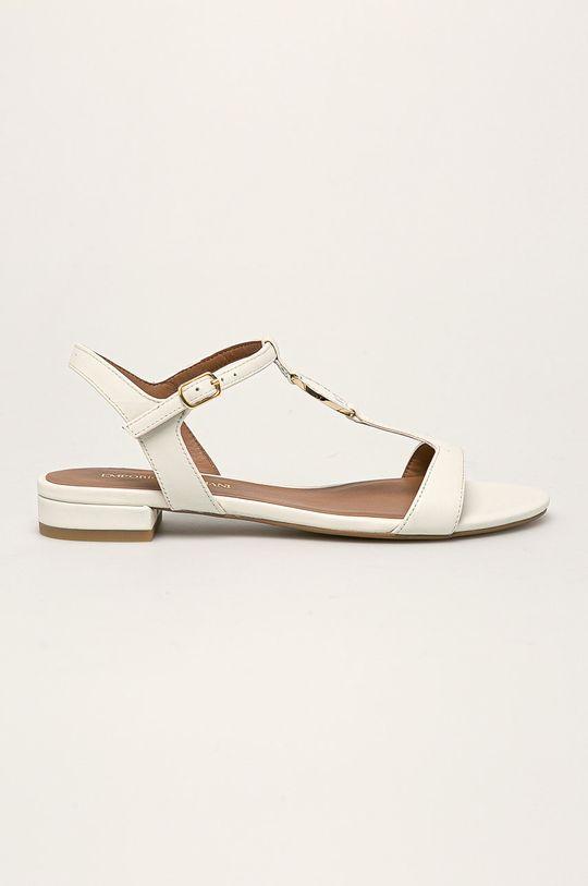 biały Emporio Armani - Sandały skórzane Damski