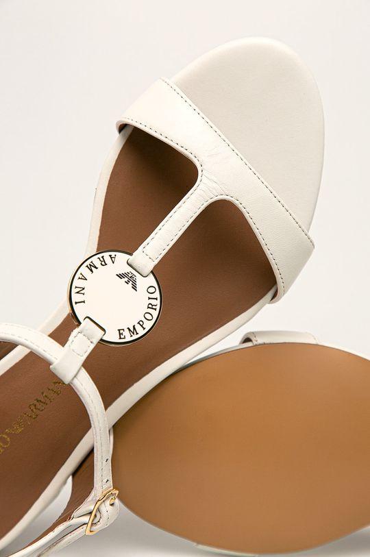 biały Emporio Armani - Sandały skórzane