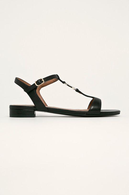 черен Emporio Armani - Кожени сандали Жіночий