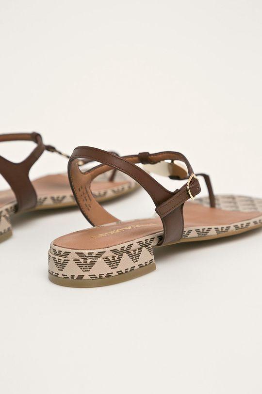 Emporio Armani - Sandały skórzane Cholewka: Skóra naturalna, Wnętrze: Materiał tekstylny, Skóra naturalna, Podeszwa: Materiał syntetyczny
