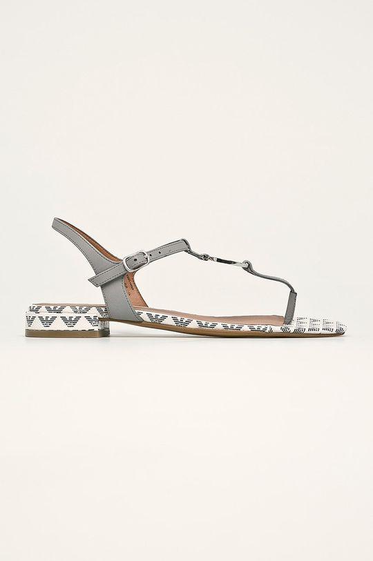 сив Emporio Armani - Кожени сандали Жіночий