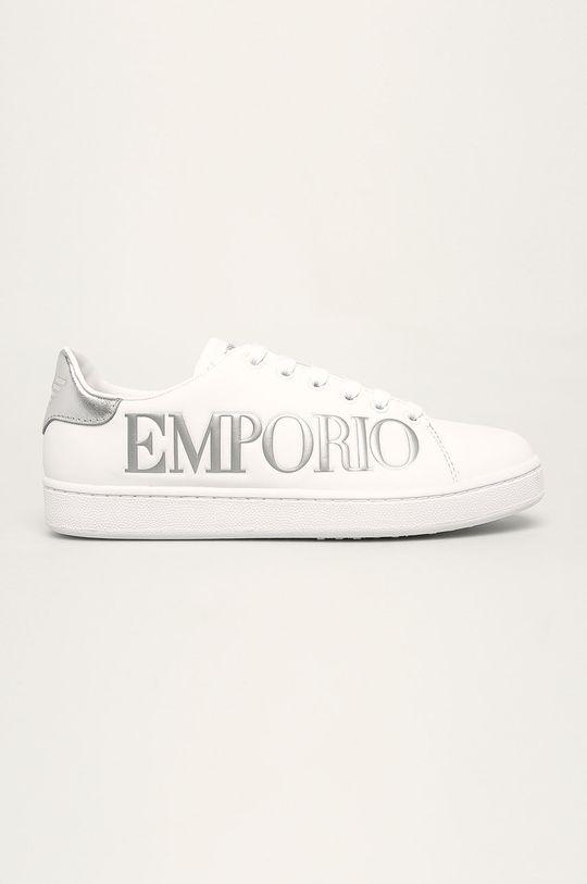 biały Emporio Armani - Buty skórzane Damski