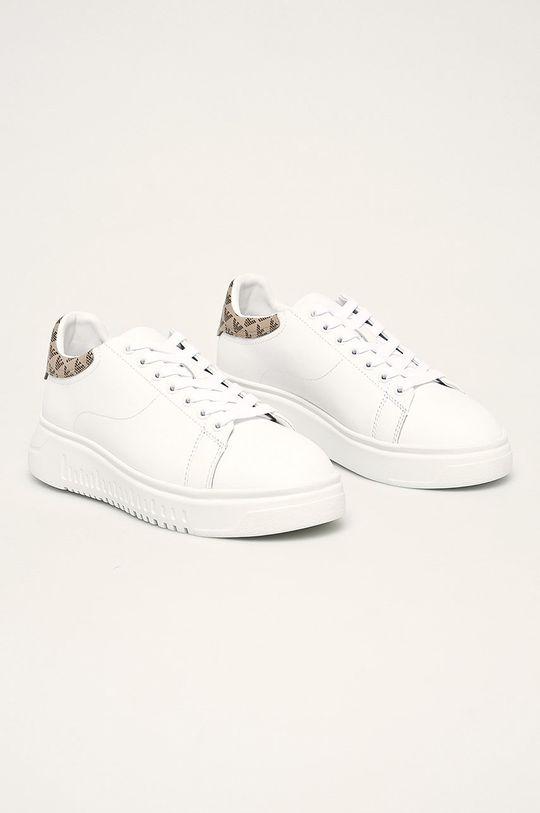 Emporio Armani - Buty skórzane biały