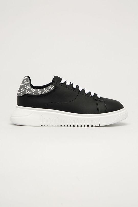 čierna Emporio Armani - Kožená obuv Dámsky