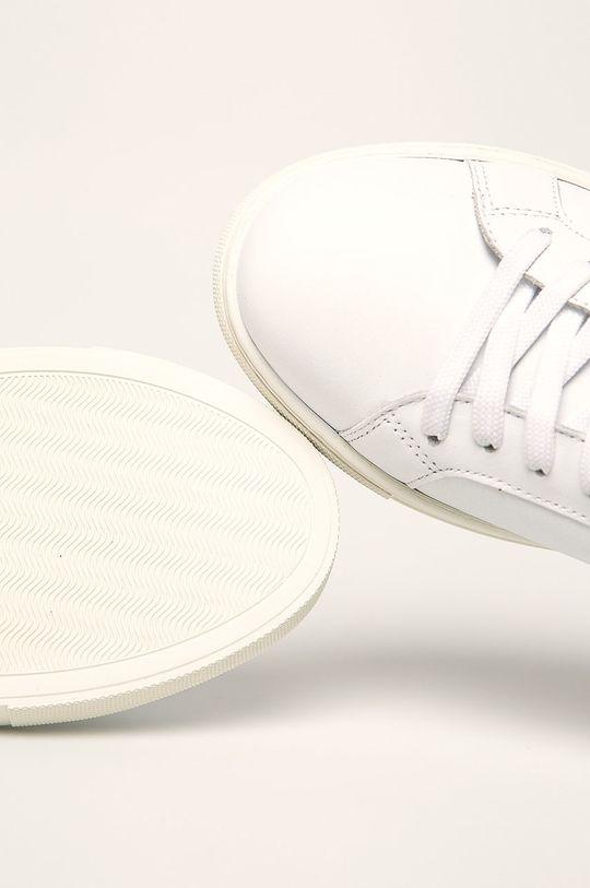 biela Emporio Armani - Kožená obuv