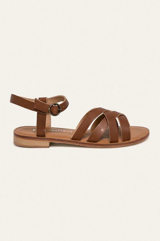 hnědá Emu Australia - Kožené sandály Lyndon Dámský