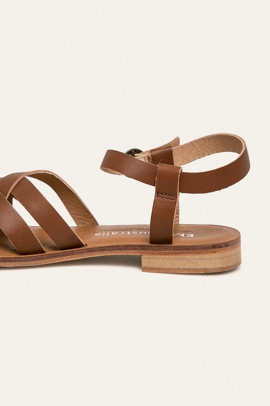 hnědá Emu Australia - Kožené sandály Lyndon