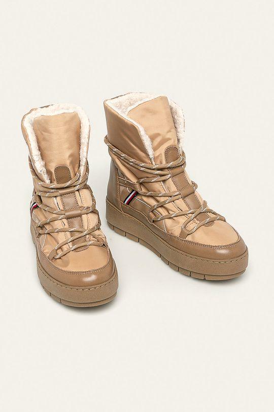 Tommy Hilfiger - cizme de iarna culoarea tenului