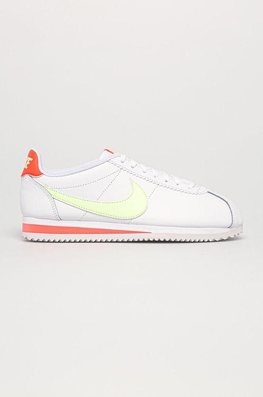 alb Nike Sportswear - Ghete de piele Classic Cortez De femei