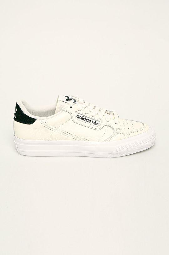 kremowy adidas Originals - Buty skórzane Continental Vulc Damski