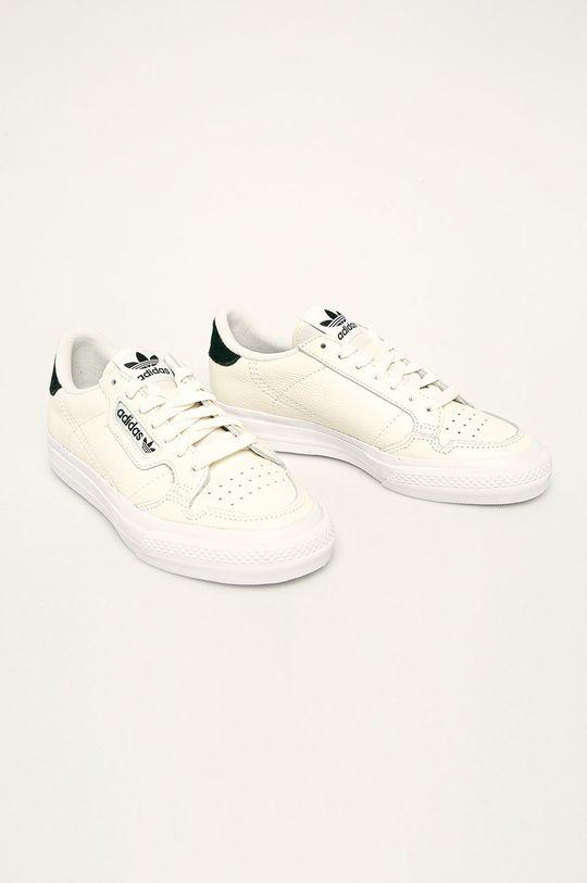 adidas Originals - Buty skórzane Continental Vulc kremowy