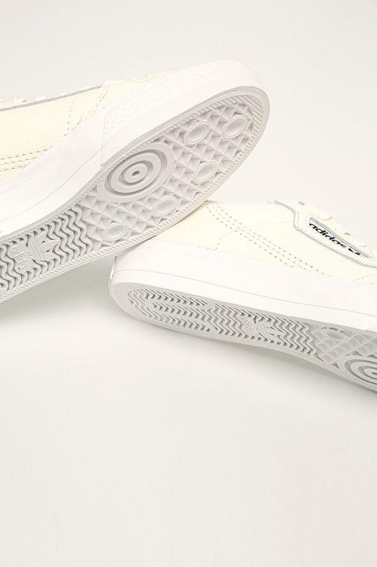 kremowy adidas Originals - Buty skórzane Continental Vulc