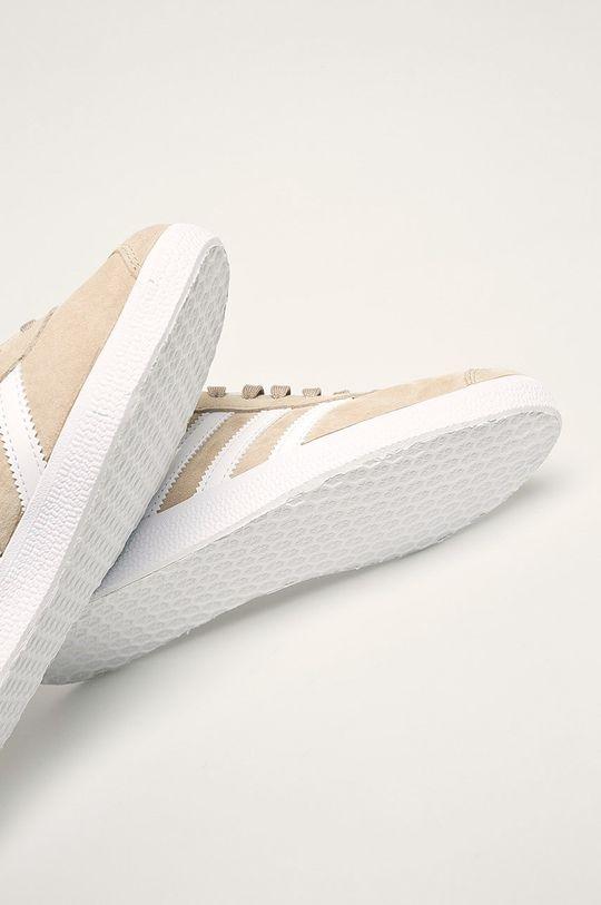 piesková adidas Originals - Kožená obuv Gazelle