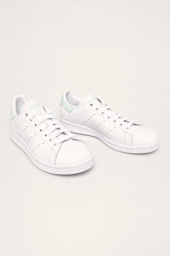 adidas Originals - Kožené boty Stan Smith bílá
