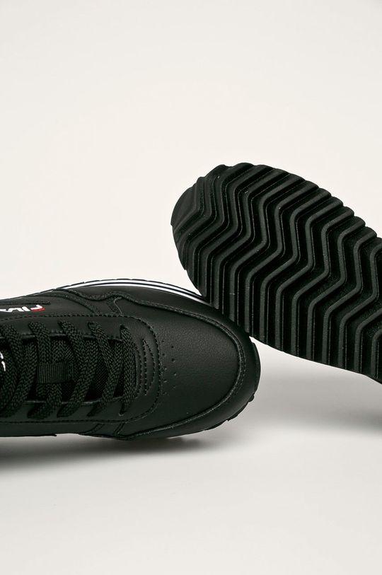 negru Fila - Ghete de piele Orbit Zeppa Stripe