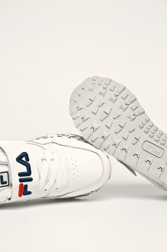 bílá Fila - Kožené boty Orbit Zeppa Strap