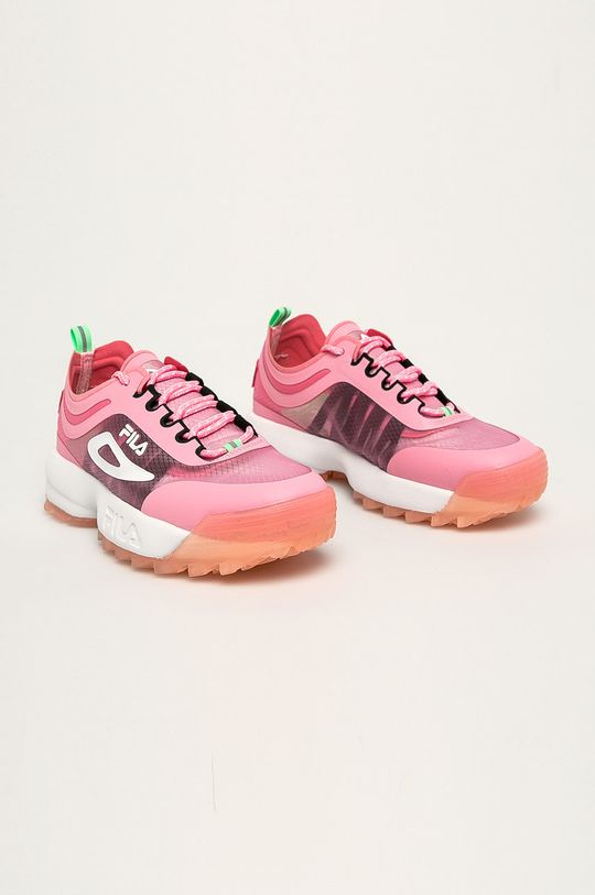Fila - Buty Disruptor Run CB ostry różowy