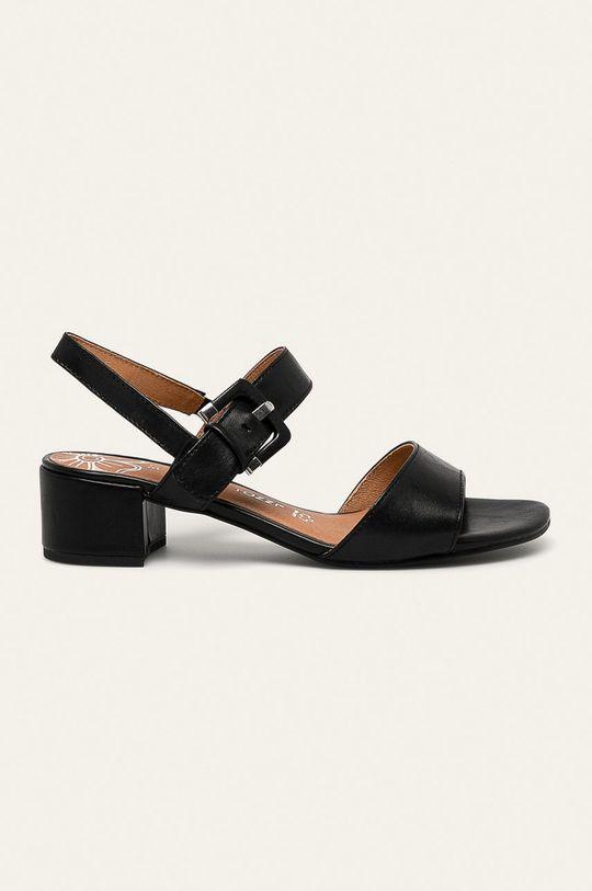 negru Marco Tozzi - Sandale de piele De femei