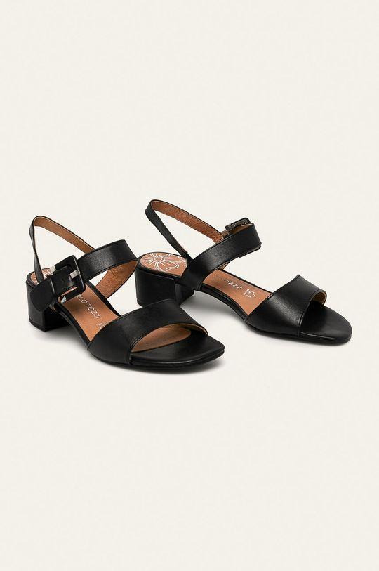 Marco Tozzi - Sandale de piele negru