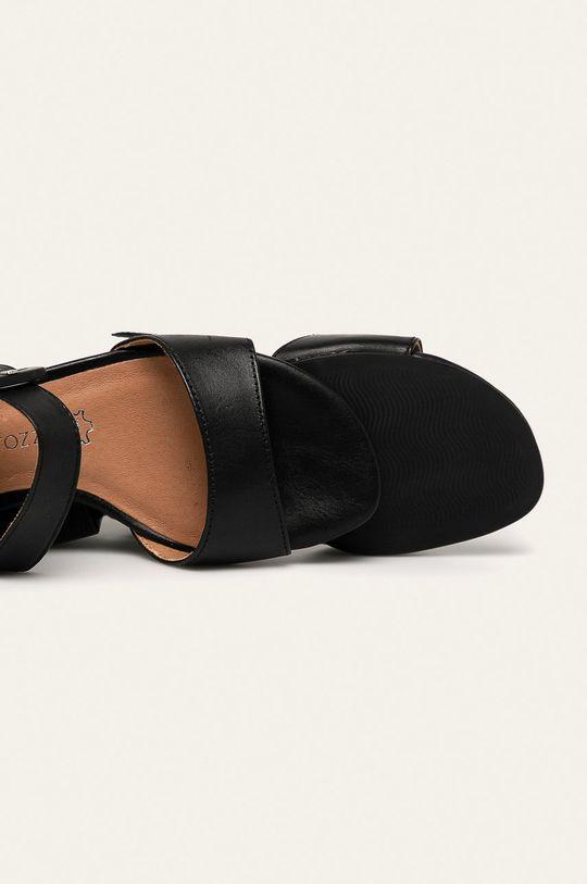 negru Marco Tozzi - Sandale de piele