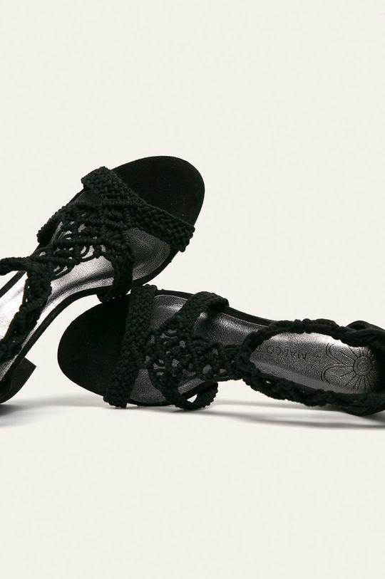 čierna Marco Tozzi - Sandále