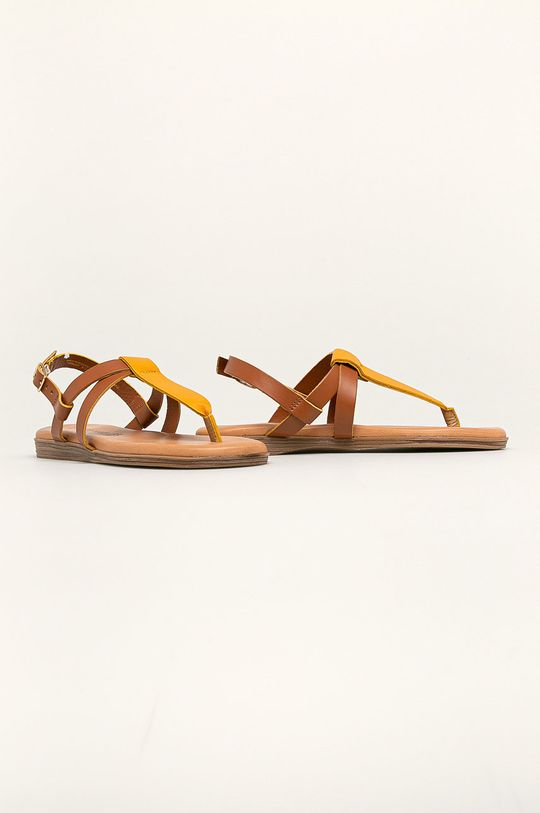 Marco Tozzi - Sandały skórzane żółty