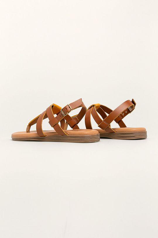 żółty Marco Tozzi - Sandały skórzane