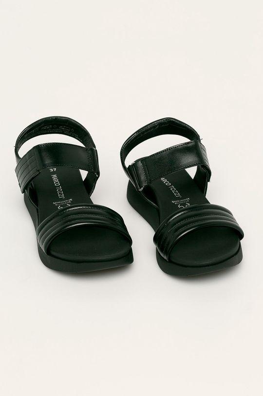 Marco Tozzi - Кожени сандали черен