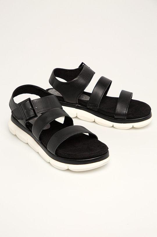Marco Tozzi - Sandały skórzane czarny