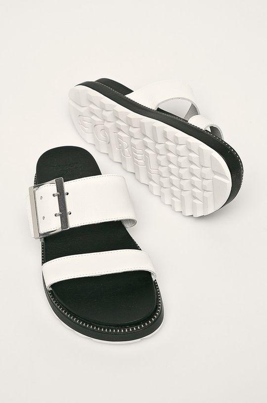 biela Sorel - Kožené šľapky Roaming Buckle Slide
