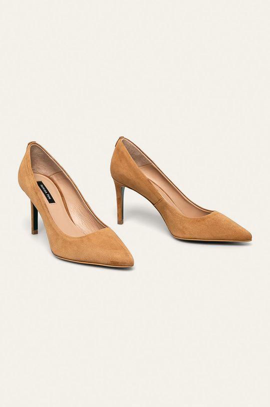 Patrizia Pepe - Stilettos de piele maro